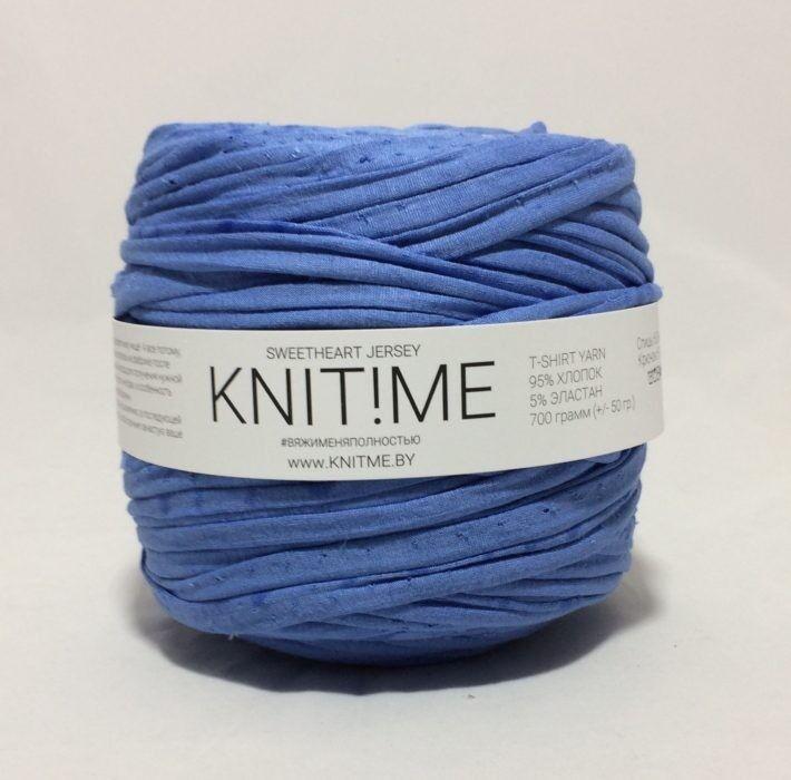 Товар для рукоделия Knit!Me Ленточная пряжа Sweetheart Jersey - Синяя диадема (SJ258) - фото 1