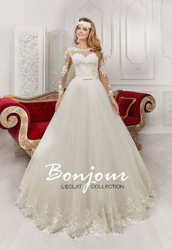 Свадебное платье напрокат Bonjour Платье свадебное «Daina» из коллекции L'ECLAT 2016 - фото 1