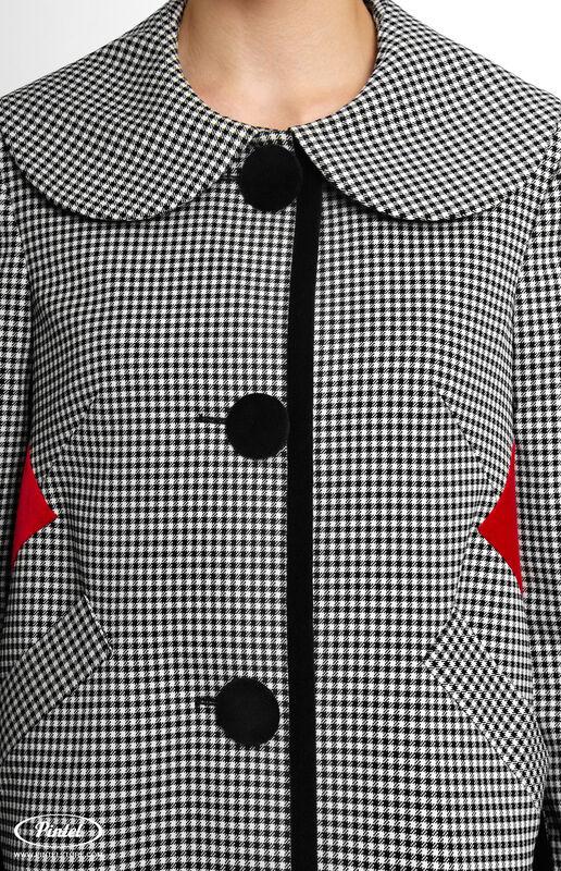 Верхняя одежда женская Pintel™ Однобортное пальто Samióna - фото 5