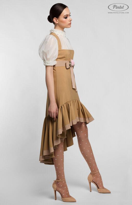 Платье женское Pintel™ Комбинированное приталенное платье VLASTYA - фото 4