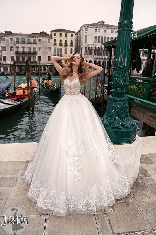 Свадебное платье напрокат Bonjour Платье свадебное «Justin» из коллекции LE DELICE 2018 - фото 1