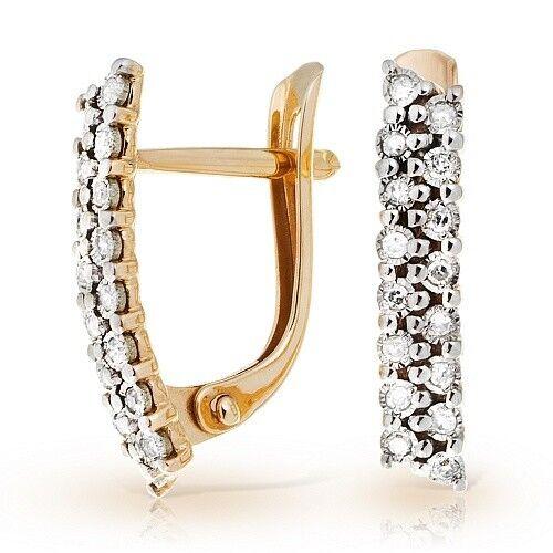 Ювелирный салон Jeweller Karat Серьги золотые с бриллиантами арт. 3226210/9 - фото 1