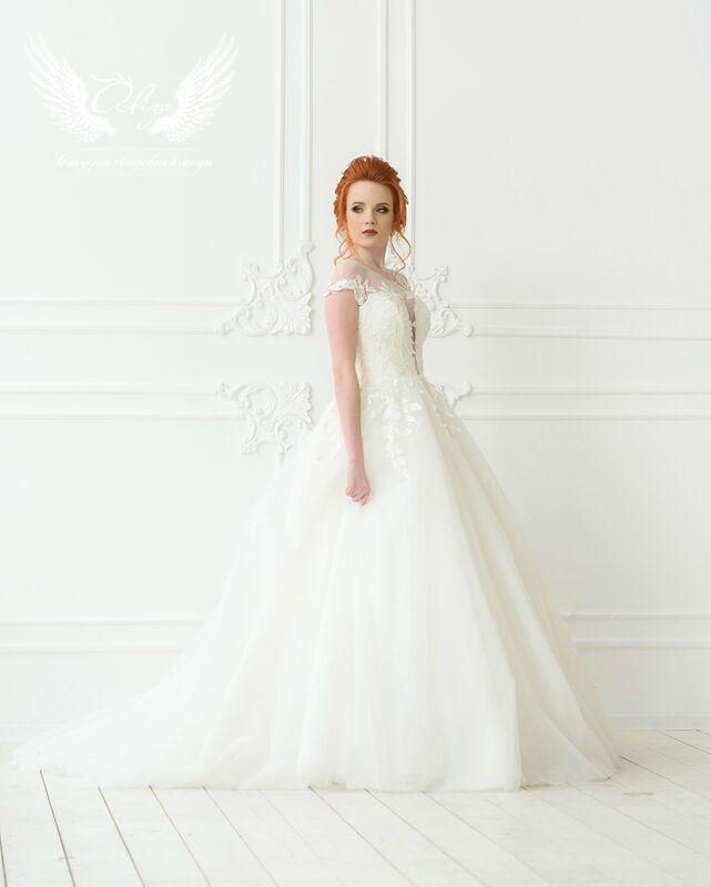 Свадебное платье напрокат ALIZA Платье свадебное «Leila» Ameli Benya - фото 4