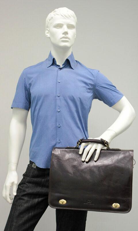 Магазин сумок Francesco Molinary Сумка мужская коричневая 513-31017-060 - фото 3
