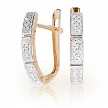 Ювелирный салон Jeweller Karat Серьги золотые с бриллиантами арт. 1224727 - фото 1