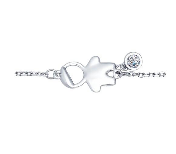 Ювелирный салон Sokolov Браслет «Мальчик» из серебра с фианитом 94050347 - фото 1