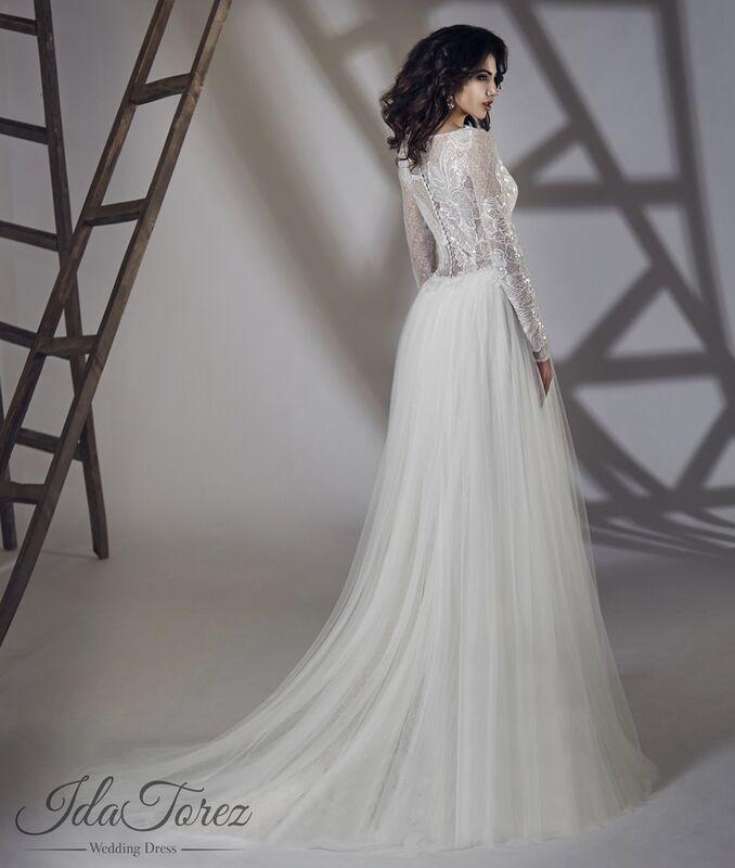 Свадебное платье напрокат Ida Torez Свадебное платье Estena - фото 3