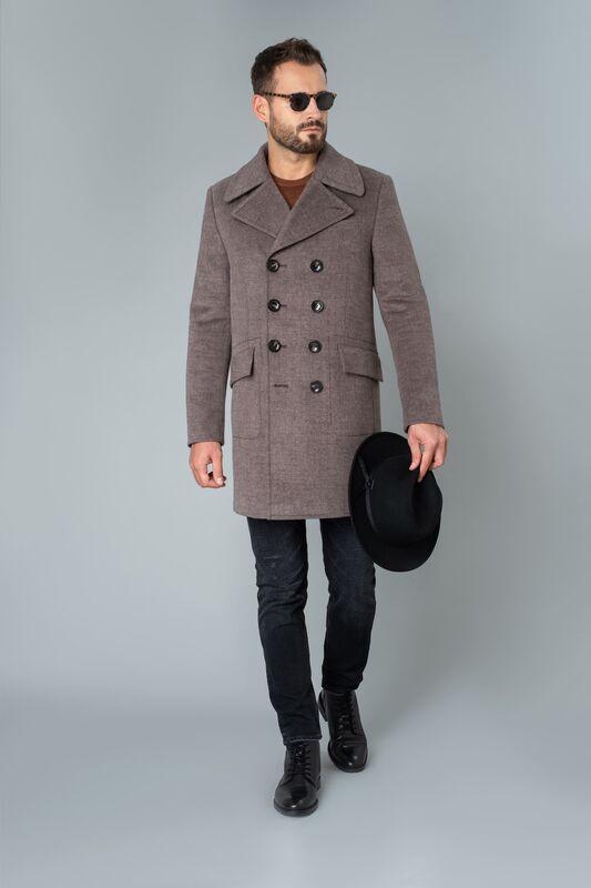 Верхняя одежда мужская Etelier Пальто мужское утепленное 6М-9093-1 - фото 1