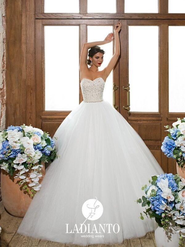 Свадебное платье напрокат Ladianto Платье свадебное Adelaide D-7117 Abelarda - фото 1