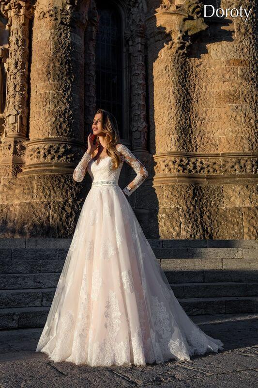 Свадебное платье напрокат Bonjour Платье свадебное «Doroty» из коллекции LA POESIE 2017 - фото 1
