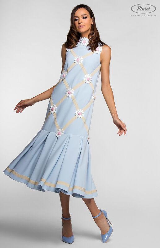 Платье женское Pintel™ Миди-платье свободного силуэта GLORISEL - фото 1
