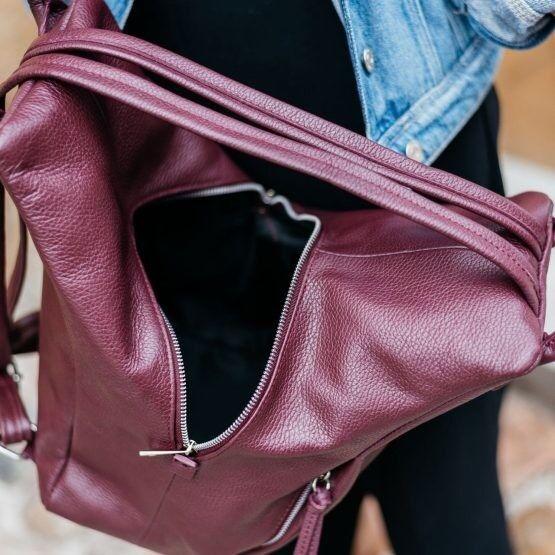 Магазин сумок Vezze Кожаный женский рюкзак C00527 - фото 3