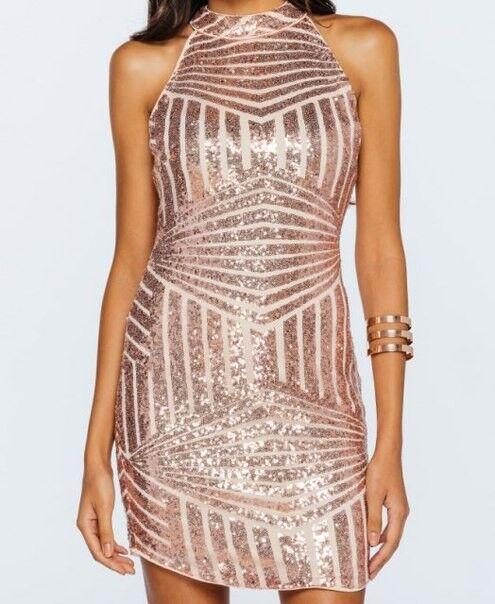 Вечернее платье Shkafpodrugi Блестящее короткое розовое платье в пайетках 3002 - фото 4