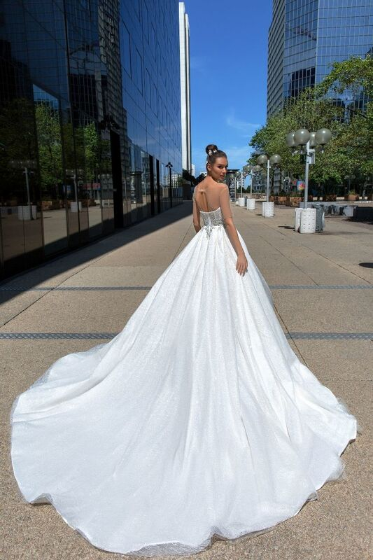 Свадебный салон Crystal Свадебное платье Larcy - фото 3