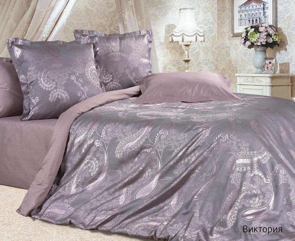 Подарок Ecotex Элитный комплект постельного белья Виктория Эстетика - фото 1
