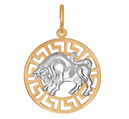 Ювелирный салон Sokolov Подвеска «Знак зодиака Телец» из золота - фото 1