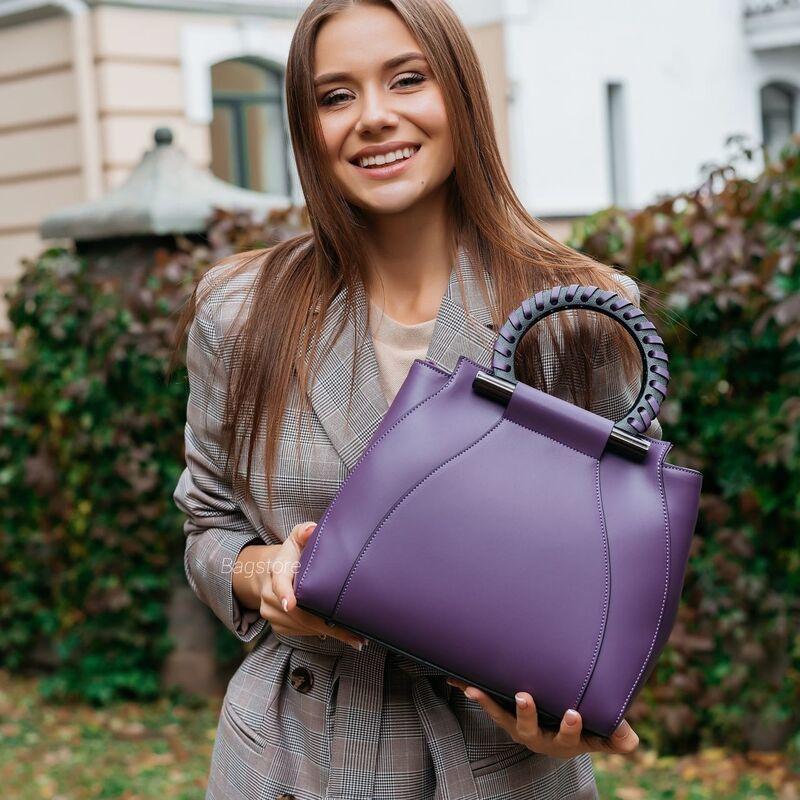 Магазин сумок Vezze Кожаная женская сумка C00554 - фото 2