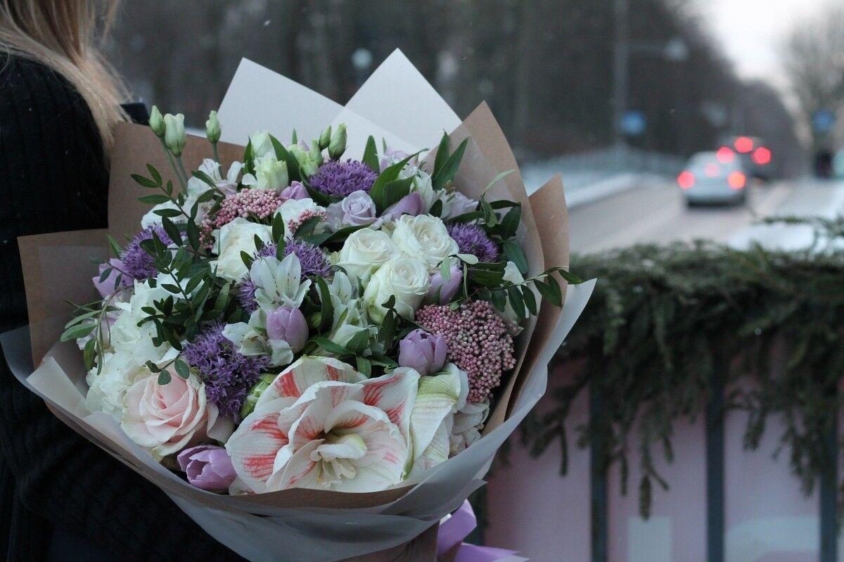 Магазин цветов Cvetok.by Букет «Ледяная свежесть» - фото 1