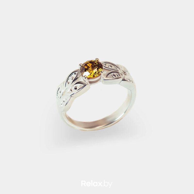 Ювелирный салон Белорусские Бриллианты Кольцо из золота со вставкой бриллиант синт. 24010022 - фото 1