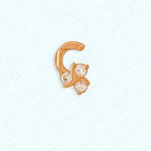 Ювелирный салон Топаз Пирсинг золотой т10207076 - фото 1