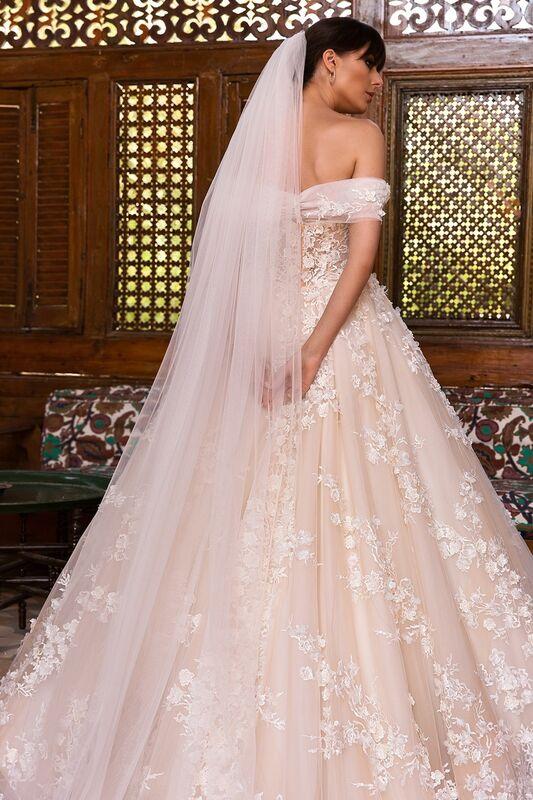 Свадебное платье напрокат Crystal Платье свадебное Magenta - фото 4
