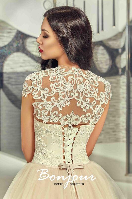 Свадебное платье напрокат Bonjour Платье свадебное «Demi» из коллекции LAMBRE 2017 - фото 6