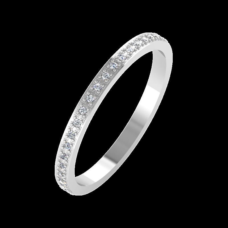 Ювелирный салон ZORKA Обручальное кольцо 1D2051/W - фото 1