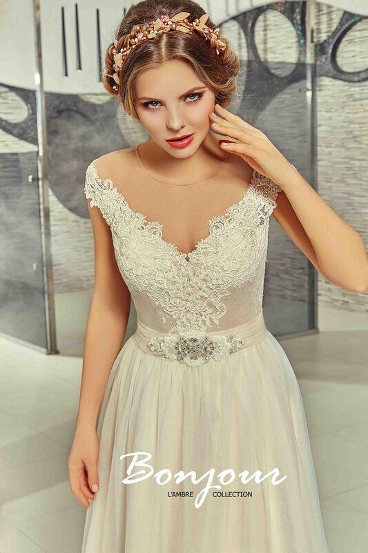 Свадебное платье напрокат Bonjour Платье свадебное «Martina» из коллекции LAMBRE 2017 - фото 4