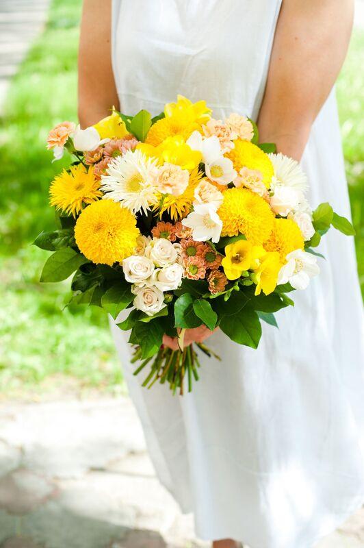 Магазин цветов Цветы на Киселева Букет «Солнечные брызги» - фото 1