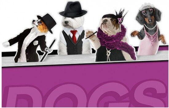Подарок на Новый год Mustard Набор магнитных закладок Dancing Dogs - фото 1