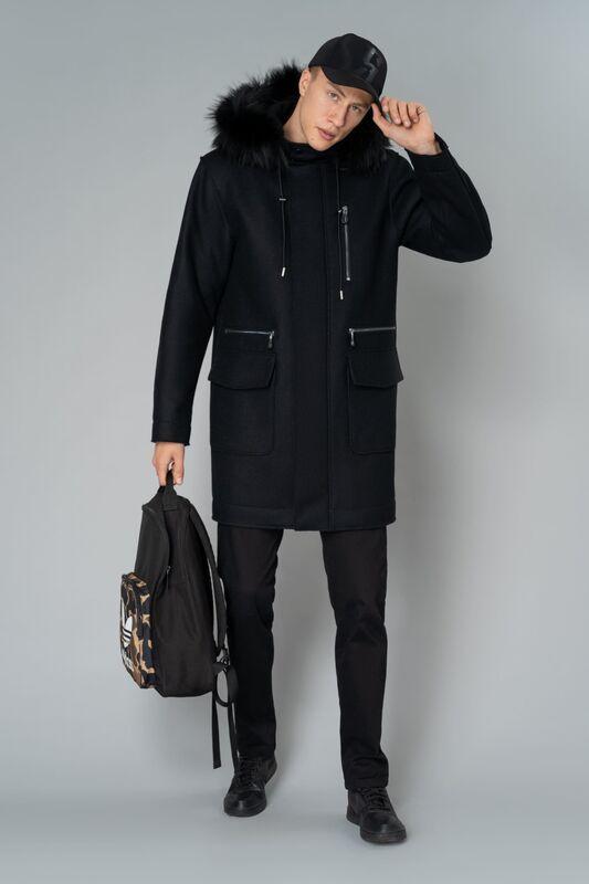 Верхняя одежда мужская Etelier Пальто мужское утепленное 6М-9294-1 - фото 1