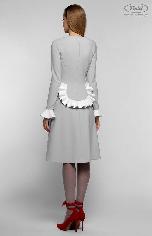 Платье женское Pintel™ Приталенное платье с длинным рукавом Aleyna - фото 4