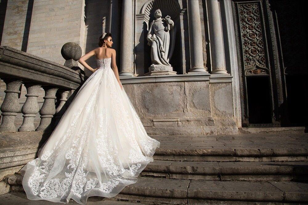 Свадебное платье напрокат Bonjour Платье свадебное «Apollo» из коллекции LA SENSUALITE 2017 - фото 4