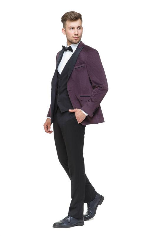 Костюм мужской HISTORIA Костюм (смокинг) бархат фиолетовый - фото 1