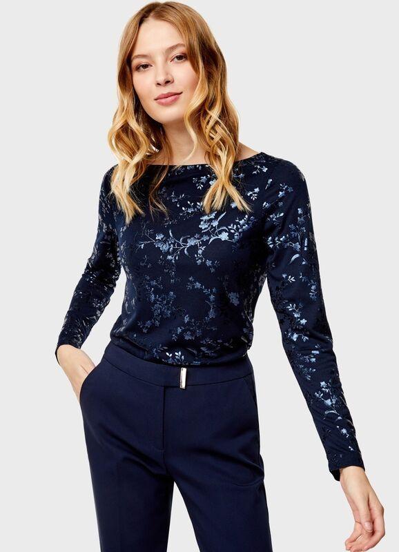 Кофта, блузка, футболка женская O'stin Футболка женская с блеском LT4U18-68 - фото 1
