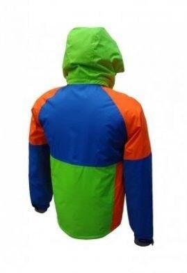Спортивная одежда Free Flight Мужская мембранная горнолыжная куртка синя-салатовая - фото 2