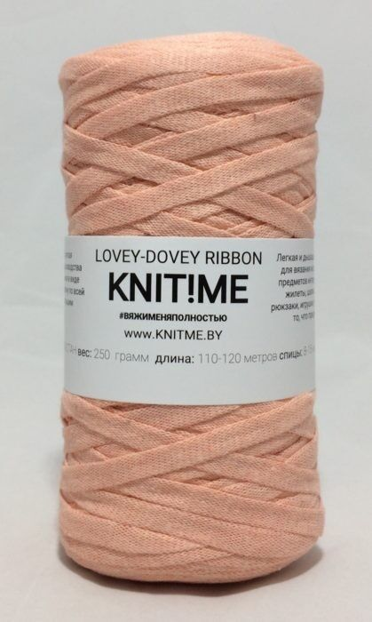 Товар для рукоделия Knit!Me Шнурочная пряжа Lovey-Dovey Ribbon - Персиковое эхо (LRD07) - фото 1