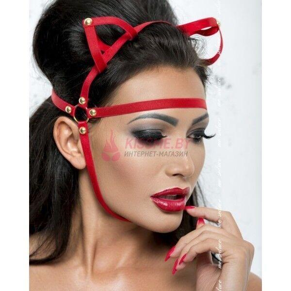 Интим-магазин Kiss Me Маска с ушками красная MK050 - фото 1