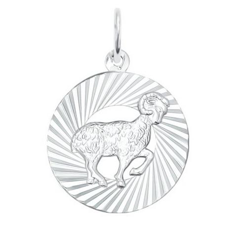 Ювелирный салон Sokolov Подвеска «Знак зодиака Овен» из серебра 94030882 - фото 1