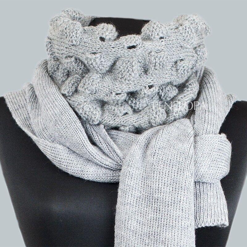 Шарф и платок PENELOPA Длинный серый шарф M16 - фото 1