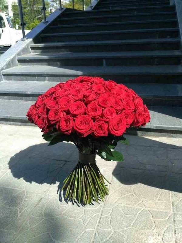 Магазин цветов Cvetok.by Букет из 101 красной розы - фото 2