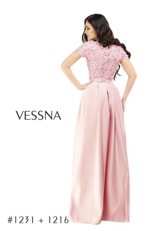 Вечернее платье Vessna Топ кружевной и Юбка длинная арт.1231 из коллекции VESSNA Party - фото 2