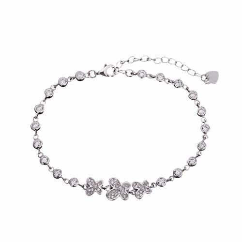 Ювелирный салон Мастер Клио Браслет из серебра с цирконием 22Б98530 - фото 1