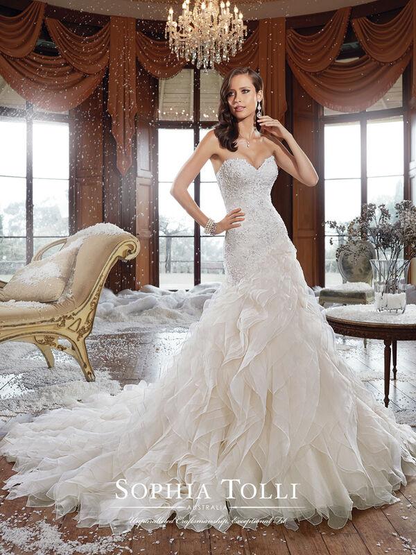 Свадебное платье напрокат Sophia Tolli Платье свадебное Y21511 Cameron - фото 1