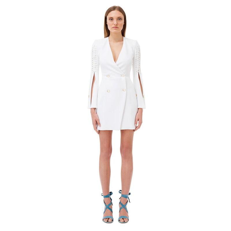 Платье женское Elisabetta Franchi Двубортное платье со шнурками AB08182E2 -  фото 1 ... 68a5a4964f2