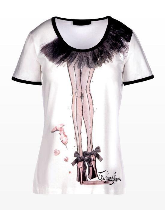 Кофта, блузка, футболка женская Trussardi Футболка женская 56T58 _5156T5 - фото 1