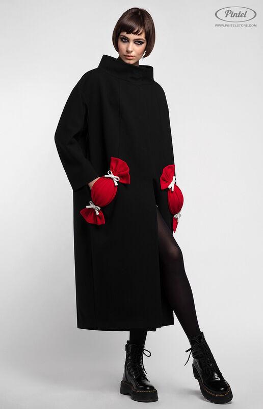 Верхняя одежда женская Pintel™ Пальто свободного силуэта Davine - фото 3