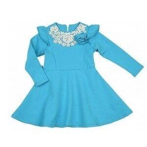 Платье детское Mini Maxi Платье для девочки голубое UD0326 - фото 1