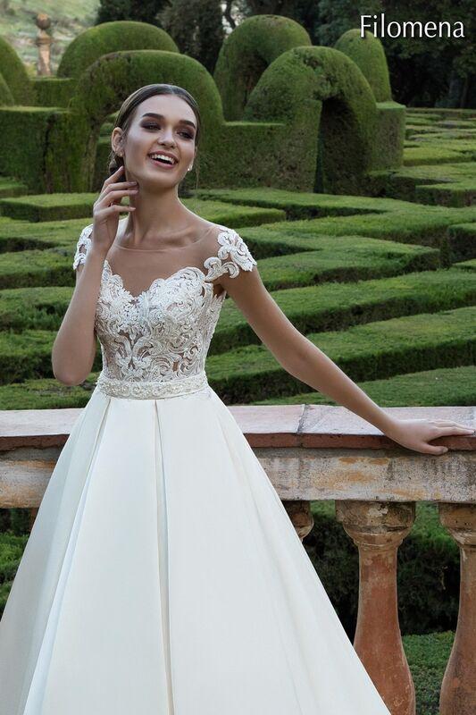 Свадебный салон Bonjour Galerie Свадебное платье «Filomena» из коллекции LA POESIE - фото 1