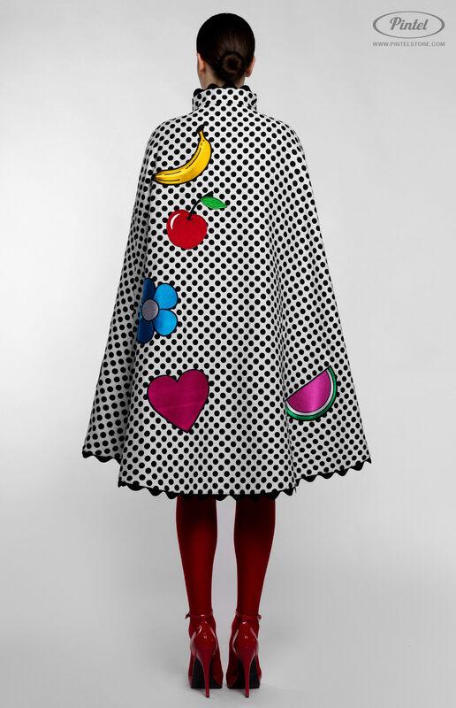 Верхняя одежда женская Pintel™ Романтичный кейп в горошек Jacqueline - фото 4